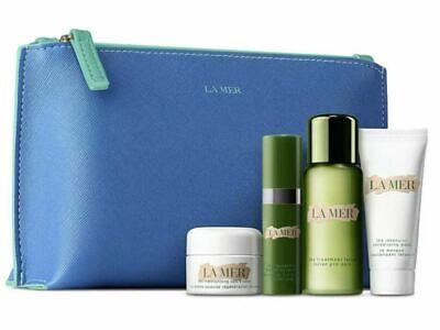 La Mer 5PC Gift Samples Set- Soft Cream, Hydrating Serum, Lotion, Mask, Bag
