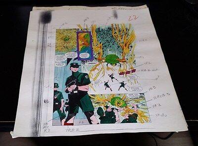 NEW GUARDIANS 9 PAGE 19 COLOR GUIDE-ORIGINAL ART-JOE STATON