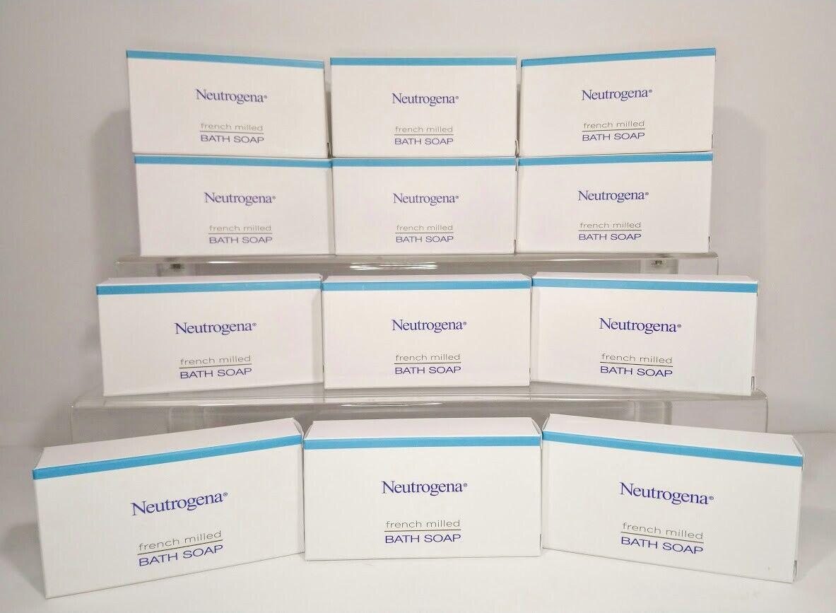 Neutrogena French Milled Bath Soap Bars 1.25 oz Free Gift!