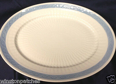 "ROYAL COPENHAGEN DENMARK FAN SERVICE BLUE 15"" OVAL SERVING PLATTER 1212 11508"