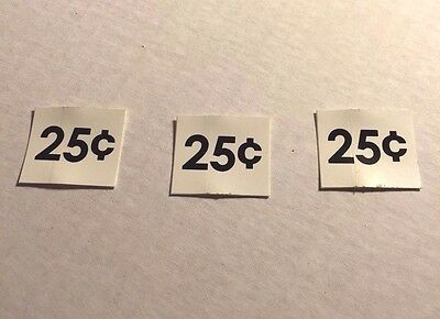 Evervend Bulk Candy Gumball Vending Machine Parts Price Stickers 3
