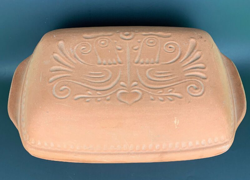 "VTG 15"" Wiener Bratentopf 4041 Terracotta Clay Dutch Oven Baking #4041"