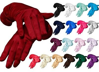 Beautiful Wrist Length Satin Gloves Clothing, Shoes & Accessories