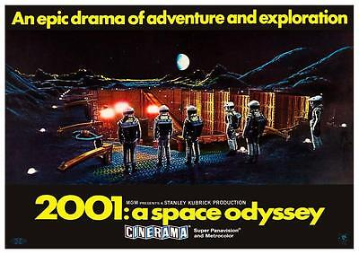 2001 A Space Odyssey POSTER - Stanley Kubrick Sci Fi - Wall Art PRINT - Must See
