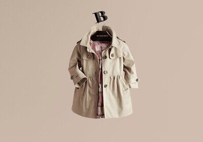 skirted cotton twill trench coat Kids Girls 18 Months