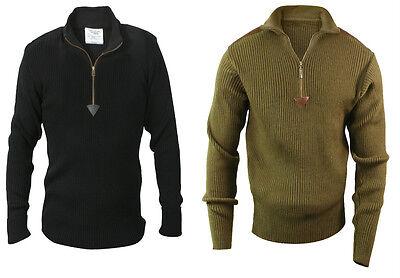 Sweater Commando Military Quarter Zip Acrylic Zip Up Rothco
