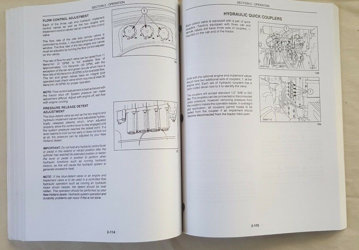 4 of 10 New Holland Operator Manual Tc21 Tractor