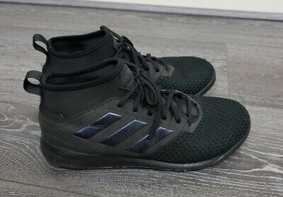 ☆ Mens Triple Black Adidas Ace astro turf sock trainers size 7 fit 6.5 6 ☆