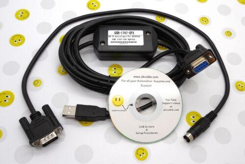 Allen Bradley PLC USB 1747-CP3 1756-CP3 & USB 1761-CBL-PM02 MicroLogix SLC