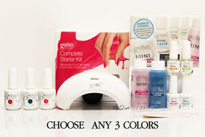 GELISH HARMONY COMPLETE STARTER KIT►LED Light + MINI Basix + ANY 3 Colors UV Set