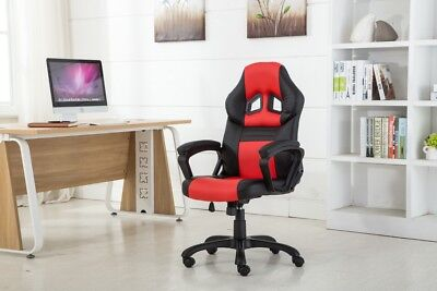 High Back Pu Leather Executive Office Desk Race Car Seat Racing Gaming Chair New