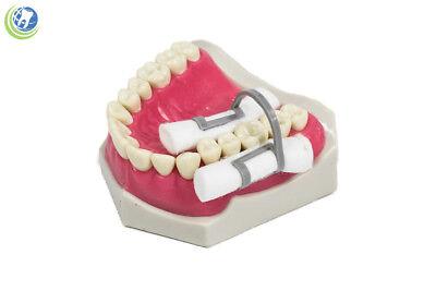 20x Dental Hygienist Disposable Cotton Roll Holder Clip Isolator Non-sterile