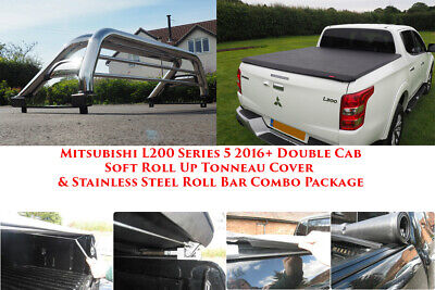 Mitsubishi L200 Roll Bar and Tonneau Load Bed Cover COMBO Stainless Steel 2016+ for sale  Shipping to Ireland