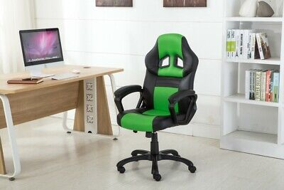 High Back Racing Style Bucket Seat Gaming Chair Swivel Office Desk PU Leather High Back Swivel Chair