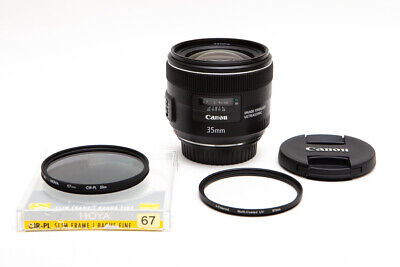 Canon EF 35mm 35 f/2.0 f2 f/2L IS (Image Stabilizer) Wide Angle Lens + Filters!