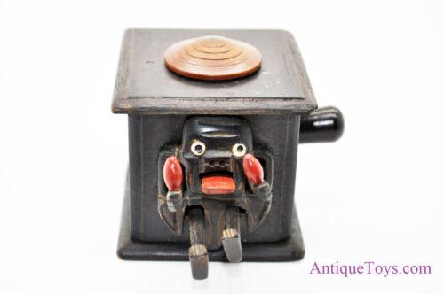 "Antique Kobe Toys Mechanical Shaman Wooden Figure Toy ""Meiji Period"" Japan"