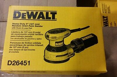 "BRAND NEW !! DeWalt D26451  3-Amp 5"" Random Orbit Palm Sander"