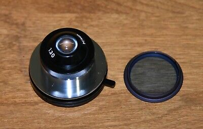 Nikon Japan S-kt Microscope Abbe N.a. 1.30 Condenser W Blue Filter Great