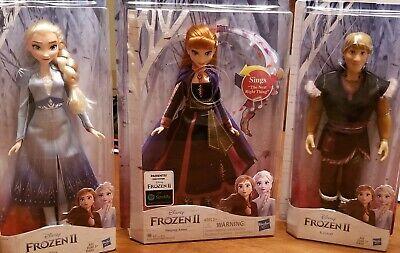 NIB Frozen II 2 - ELSA, ANNA (Singing Version), and KRISTOFF - 2019 Doll Set