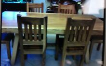 Wooden dining Table + 6 chairs Ryde Ryde Area Preview