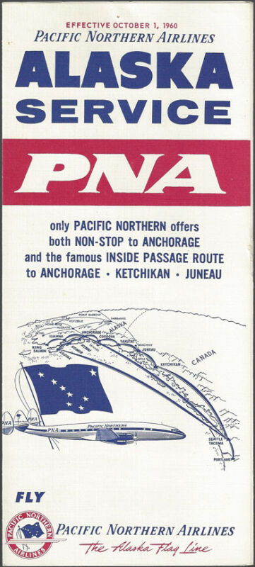 Pacific Northern Airlines system timetable 10/1/60 [9101]