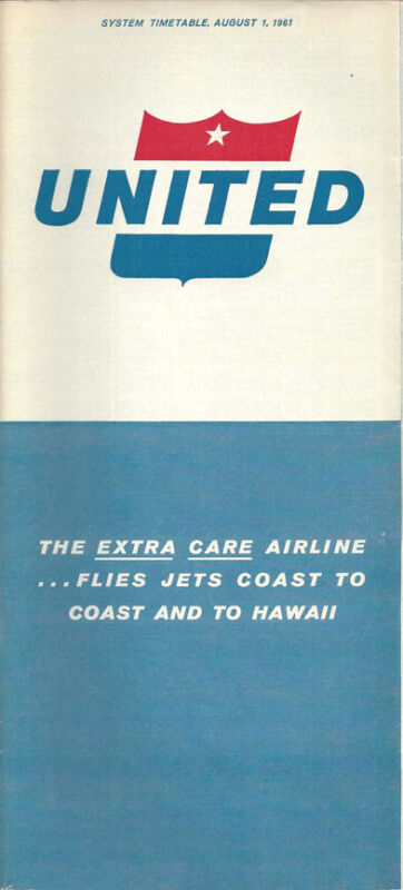 United Airlines system timetable 8/1/61 [0098]