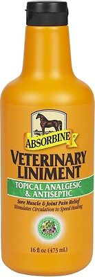 ABSORBINE VETERINARY LINIMENT Liquid Sore Muscle Relief Horses 16oz