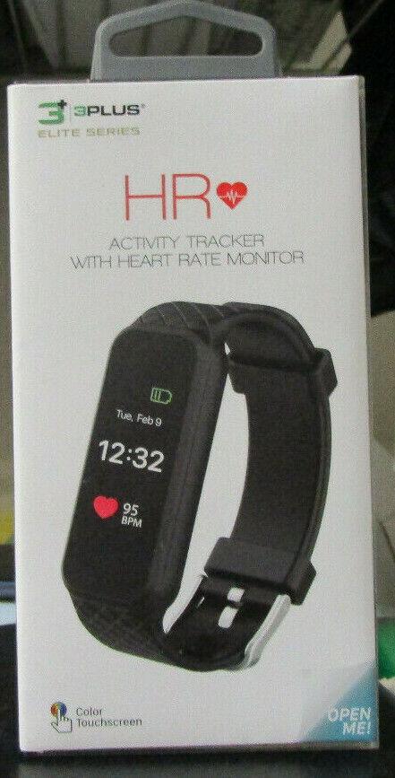 3 Plus Elite Series HR Black Activity Tracker with Heart Rat