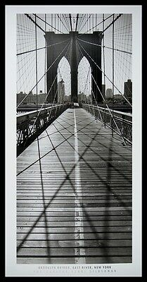 Henri Silberman Brooklyn Bridge East River New York Poster Kunstdruck und Rahmen