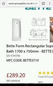 White super steel bath