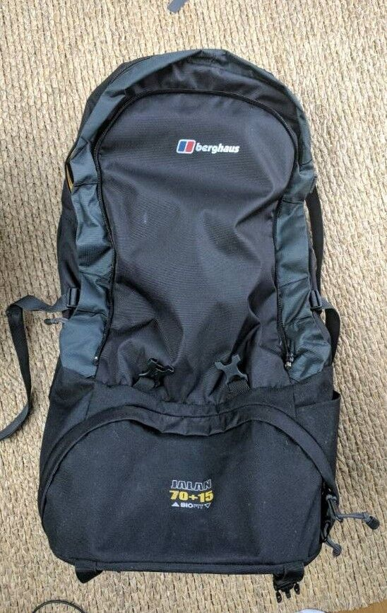 Berghaus Jalan 70+15L Backpack - Travel Rucksack - Wheeler - Detachable  Daysack- £160 RRP ! 16cf4c9b25