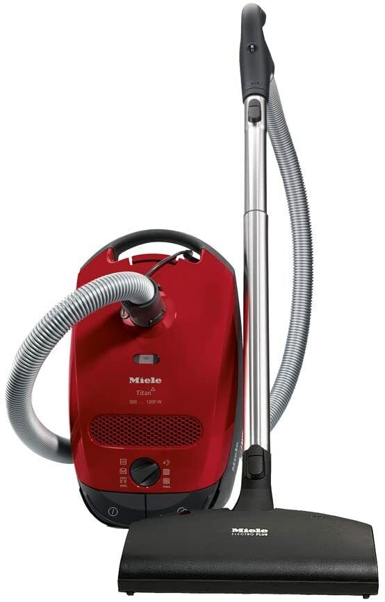 Miele Classic C1 Titan Mango Red Canister Vacuum Cleaner