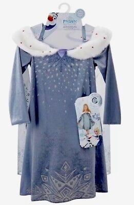 NEW Disney Olaf's Frozen Adventure Deluxe Musical Elsa Dress Size 4-6x