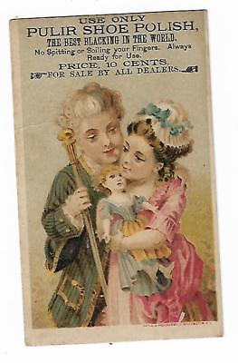 Old Trade Card Pulir Shoe Polish Best Blacking In World No Spitting Sale By