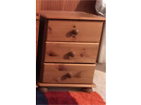 Small set of pine drawers