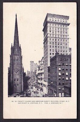 USA NY NEW YORK Trinity Church Surety Building c1902 u/b PPC by J Koehler