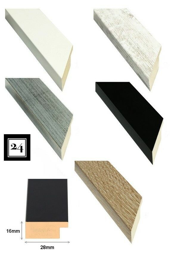 Bilderrahmen London Holz MDF Foto Poster Rahmen in 7 belibten Farben ...