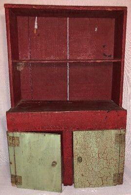 Antique Primitive Childs Cabinet? Spice Cabinet? Early Handmade Folk Art