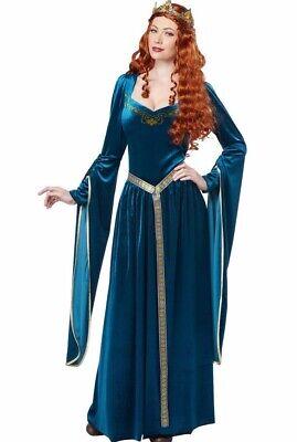 Lady Guinevere Costume Dress Adult Renaissance Queen Medieval Princess Womens