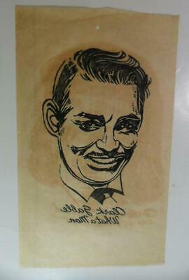 1940s Men's Shirts, Sweaters, Vests VINTAGE 1940'S WHAT A MAN CLARK GABLE T SHIRT IRON ON DECAL TRASFER  NICE $19.50 AT vintagedancer.com