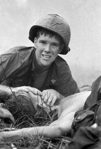 Vietnam War U.S. Army Medic Saving Life On Battlefield Glossy 8x10 Photo