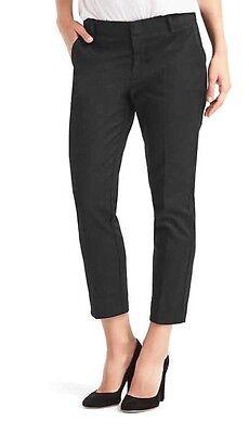 Gap Slim Crop Pants Size 4 NWT Black