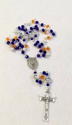 SAN DIEGO PADRES ROSARY ORNAMENT NECKLACE JEWELRY GLASS BEADED MLB BASEBALL LOGO San Diego Padres Jewelry