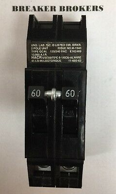 Zinsco Gte Sylvania Type Q Qcp 2 Pole 60 Amp 240v Circuit Breaker - Ships Today