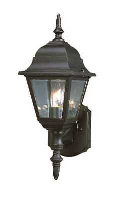 Outdoor wall fixture Lantern Light Classic Sconce - Black, Weather -