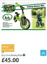 Mini xootz folding frame balance bike brand new