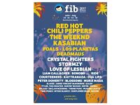 Benicassim weekend camping: 13-16 July.