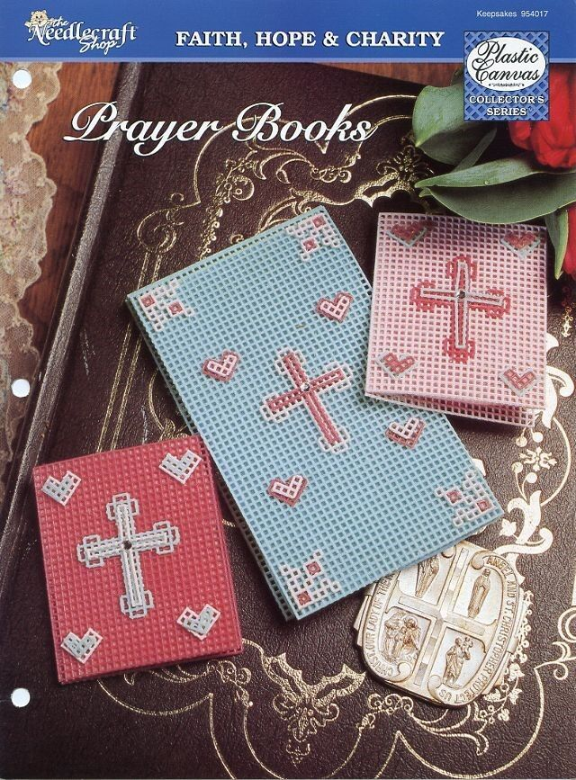 Book Cover Patterns Photo Free : Prayer books notepad and verse book covers plastic canvas