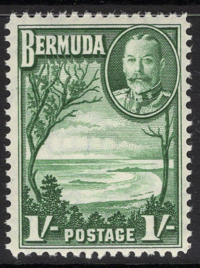 BERMUDA SG105 1936 1/= GREEN MNH