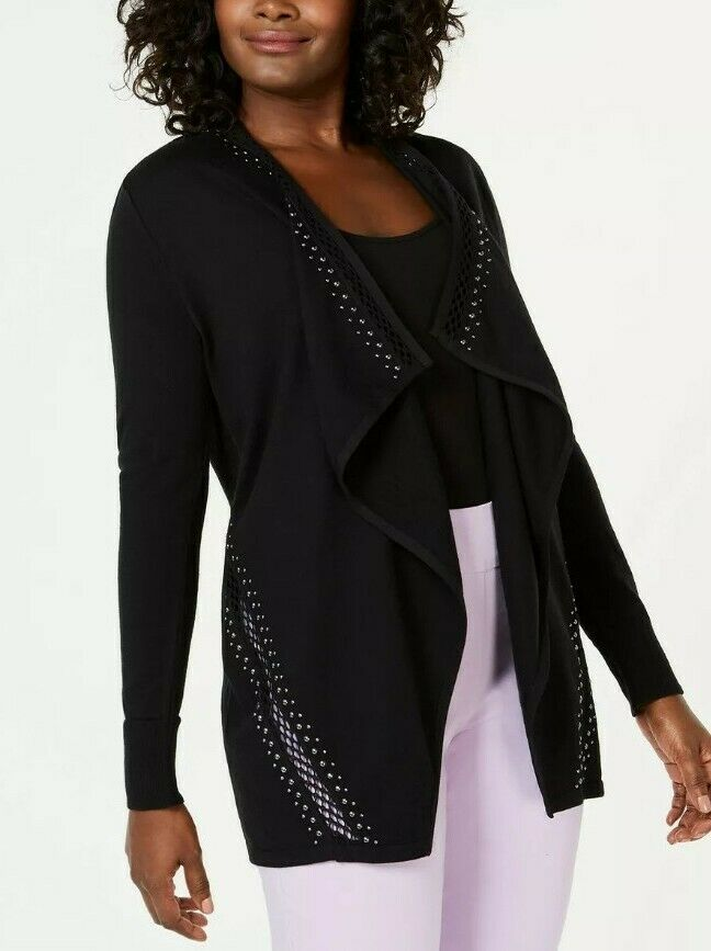 JM Collection Petite Open-Front Cardigan, Created for Macy